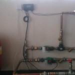Detaliu instalatie termica,centrala pe peleti si controler.