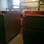 Centrale Viessman Vitolig 150 de 80 kw cascadate intr-o instalatie termica.