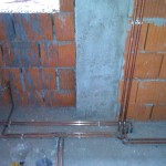 Instalatie cu radiatoare si teava de cupru ingropata(detaliu executie).
